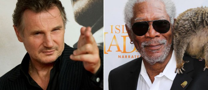 Liam Neeson og Morgan Freeman í Ted 2